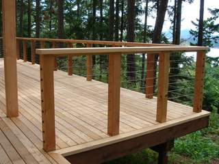 Knotty Western Red Cedar decking is the most economical