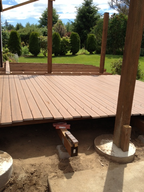 Laying out decking