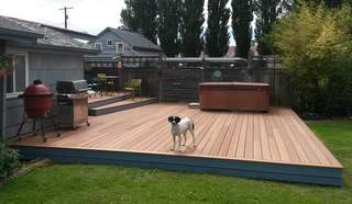 Consider all furniture that will be placed on your deck to help to determine the correct size