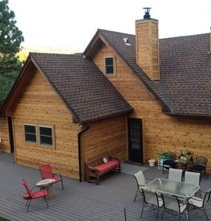 Custom Stained Western Red Cedar Tight Knot Siding