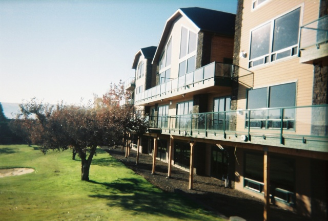 Glass Panel Custom Coated Railing System is perfect when an unobstructed view is desired