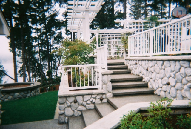 aluminum powder coated railing