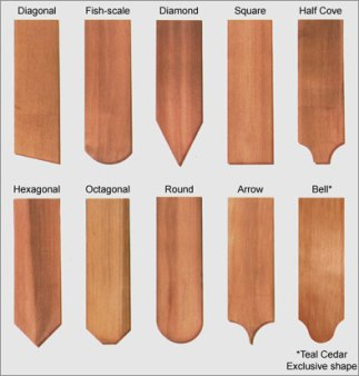 Western Red Cedar Fancy Cut Shingles