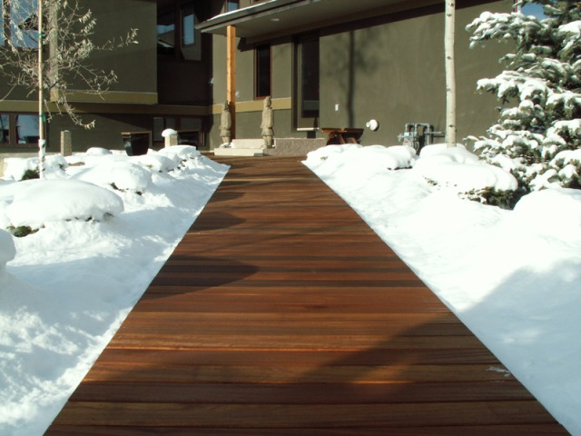 Golden Balau Hardwood Decking Performs well in even extreme climates