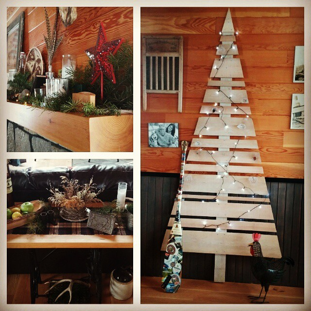 Rustic Handmade Wooden Christmas Tree