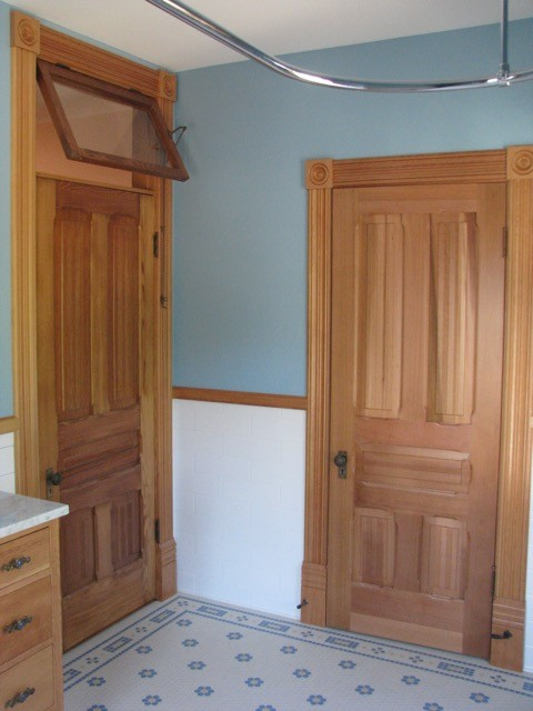 Clear, Vertical Grain Douglas Fir was used to craft these doors