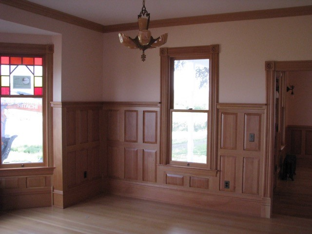 Farmhouse renovation that we supplied the Clear, Vertical Grain Douglas Fir for