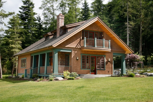 Western Red Cedar Stained Shingles