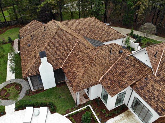 CCA treated Western Red Cedar Tapersawn Shake roof