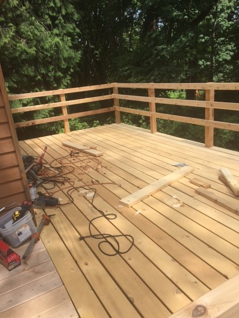 2x6 knotty alaskan yellow cedar decking installation