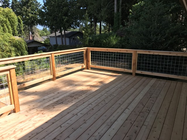 "5/4x6"" Knotty Western Red Cedar Decking"