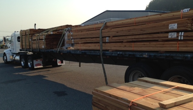 Truck of Western Red Cedar