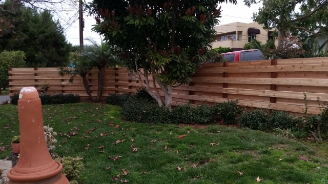 "Because Western Red Cedar is only grown in the Pacific Northwest, cedar building materials are plentiful including the 5/4x6"" decking used to create this privacy fence"