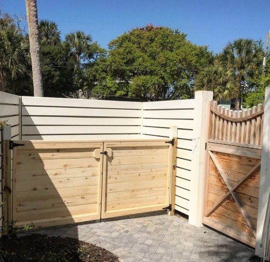 Alaskan Yellow Cedar custom gates in Sarasota Florida