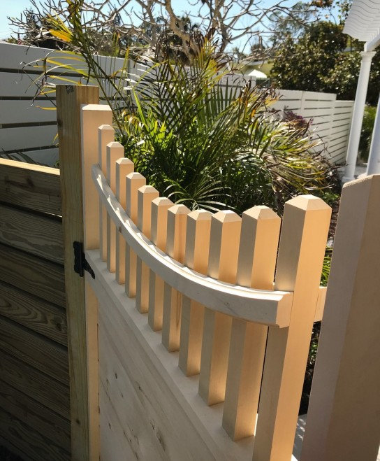 Clear, Alaskan Yellow Cedar custom cut gate pickets
