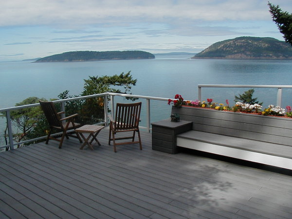 Grey Timbertech decking provides years of carefree service