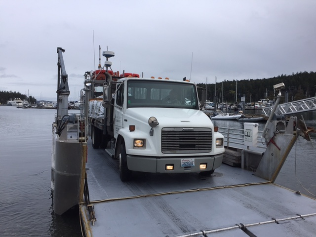 Cedar Country lumber delivering to Henry Island