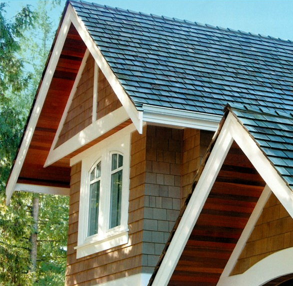 Western Red Cedar R&R Sidewall Shingles manufactured by Teal Cedar, distributed by Cedar Country Lumber