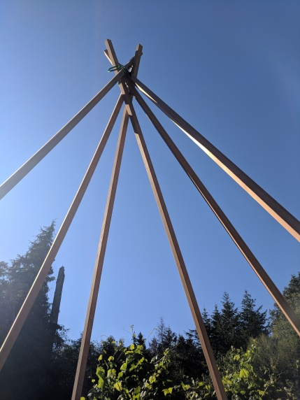 how to make a naked teepee for wedding backdrop