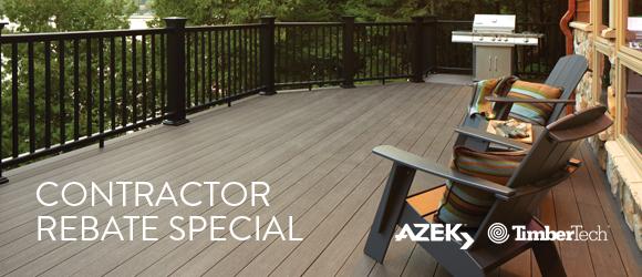 AZEK and TimberTech Contractor Rebate Special | Cedar