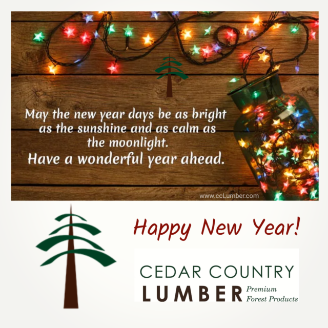 Happy New Year from Cedar Country Lumber