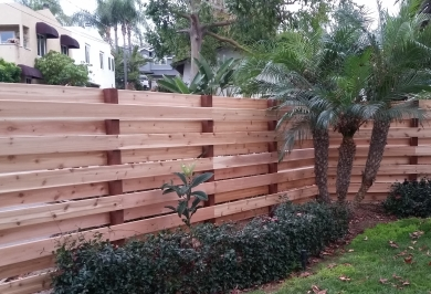 "5/4x6"" Western Red Cedar Decking Used as Vertically installed Fencing"
