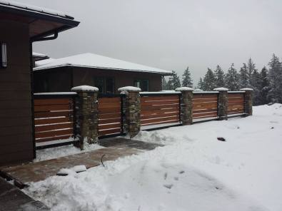mahogany fence