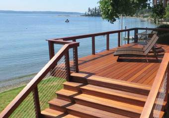 Extremely dense and resistant to rot and decay, Kayu Red Batu Mahogany Decking is an affordable and beautiful exotic hardwood decking. Perfect for wet climates and for use in areas around water.