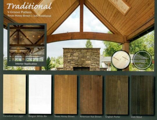 Pre-primed v groove pine paneling