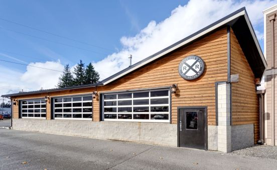 At Cedar Country, we only supply knotty bevel siding that is has sound and tight knots such as the siding used on the newly remodeled Railroad Pub and Pizza