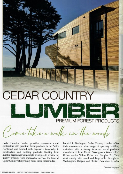Cedar Country Lumber Half Moon Bay CA project