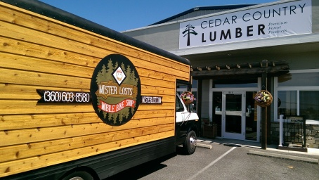 Western Red Cedar Channel Siding on mobile building