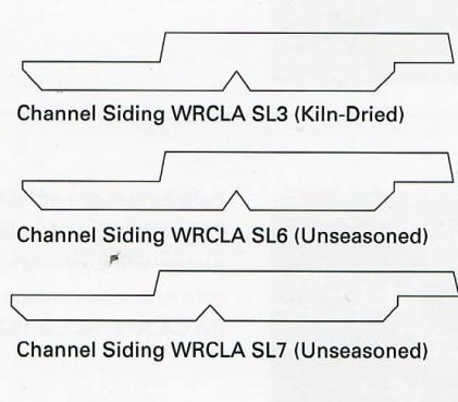 Western Red Cedar Channel siding profiles