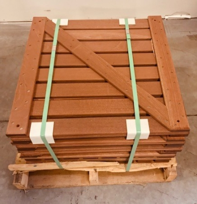 Mahogany Tropical Deck Tiles come ready to install